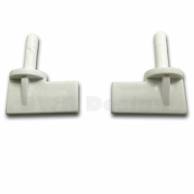 Water Pump Filter Housing Plug Security Clips X2 White Filtapac Carver Caravan
