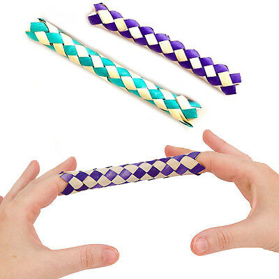 2 x CHINESE FINGER TRAP MAGIC TRICK TOY BOYS GIRLS LOOT FAVOR PARTY BAG FILLERS