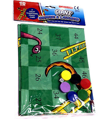 Giant Snakes & Ladders Game Toy Boys Girls Gift Summer Outdoor Garden Family Fun