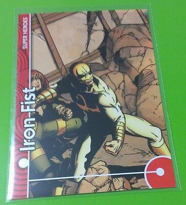 IRON FIST #18 MARVEL RETRO STICKER CHASE INSERT FLEER UPPER DECK 2013 SET