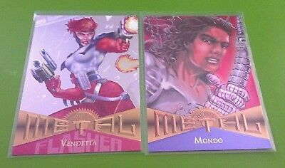 VENDETTA SILVER FLASHER #54 & MONDO #105 1995 Marvel Metal Fleer Card Set