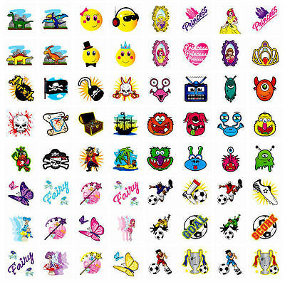 Temporary Tattoos Children Boys Girls Prizes Toy Birthday Party Bag Fillers