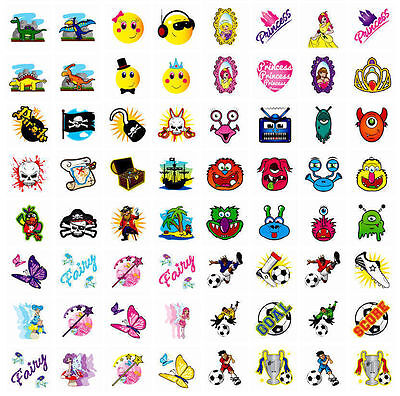 Temporary Tattoos Childrens Birthday Party Bag Christmas Stocking Fillers