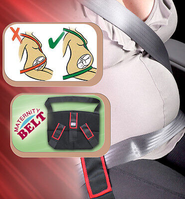 Triple Support Advanced Maternity Pregnancy Seat Belt Belly Band Car Baby Safety