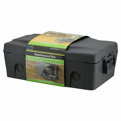 Weatherproof Box for Outdoor Power Connections 32x20x12cm