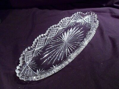 Celery, Vegetable Tray, American Brilliant Period, 1876-1912, Cut Crystal