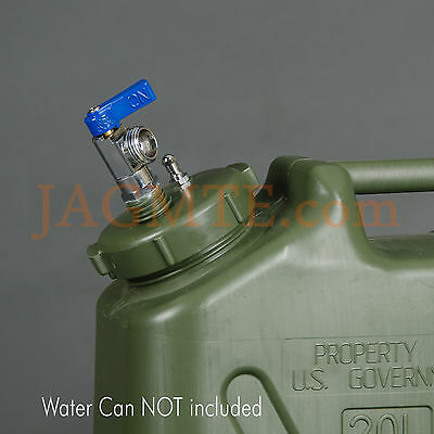 Ball Valve Pressure Kit -Scepter MWC-OliveDrab -Modified Cap- Military WATER Can