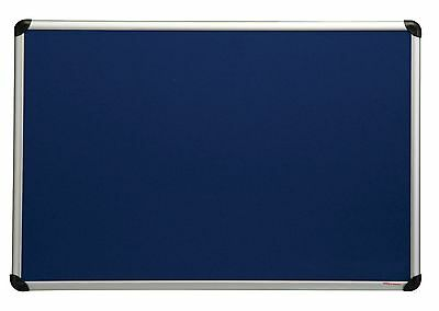 Felt notice board Aluminium frame - choice of 3 colours - 2 sizes,  pin board