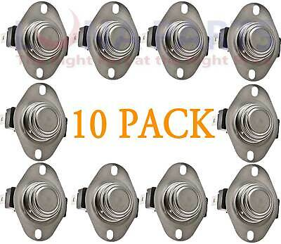 10 Pack Dryer Thermostat for Whirlpool Kenmore AP6008270 PS11741405 3387134