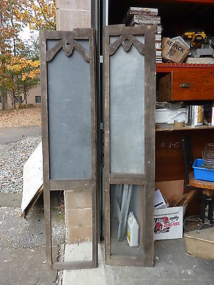 early 20th cent schoolhouse SLATE chalkboard FRAMED VICTORIAN porch screen 83x18