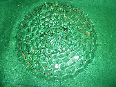 INDIANA GLASS 12 INCH FOOTED CAKE PLATE OR SERVING TRAY