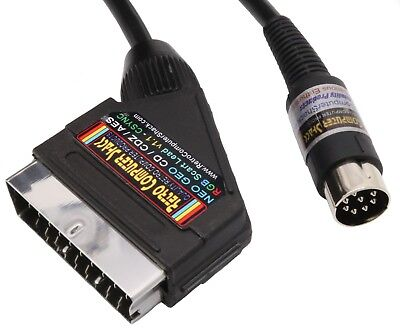 SNK Neo Geo CD,CDZ & AES High Quality RGB Scart Lead Video Cable TV Lead 2mtr