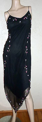NWT'S BETSEY JOHNSON 100% Silk Cute & Sexy Black Cocktail Dress, sz.8