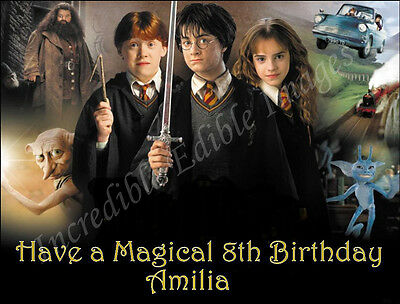 19cm x 25cm Rectangle Harry Potter Edible ICING Cake Topper