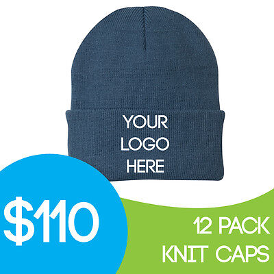 Custom Embroidered Personalized Stocking Knit Hat Stocking Caps