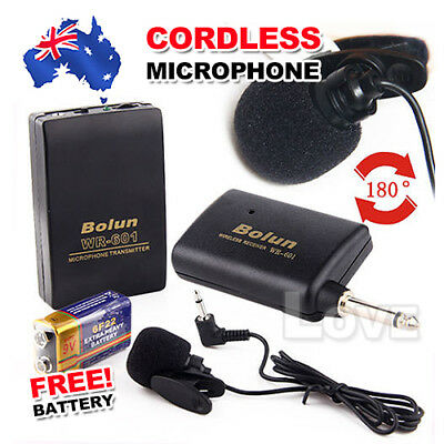 OZ Just Microphone Set Mic Transmitter Battery Wireless Cordless Clip On Lapel