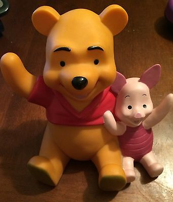HTF Disney Winnie the Pooh & Piglet Piggy Coin Bank PVC Plastic EXCw stopper