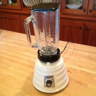 Vintage White Osterizer Oster Deluxe Blender Model #403 Great Working Condition