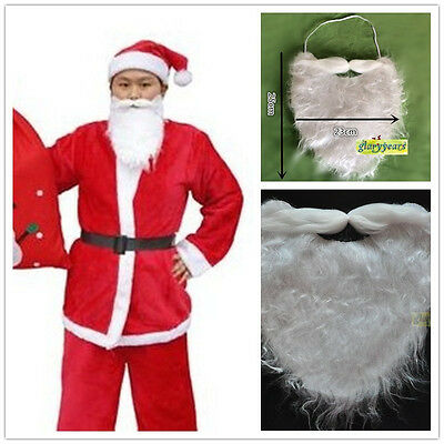 Hot Santa Claus White Beard Mustache Christmas Party Costume Props Dress Holiday