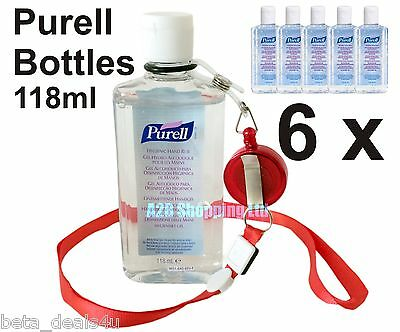 6 bottles Purell Hand Sanitizer Alcohol Rub Gel 118ml Anti Bacterial Sanitiser