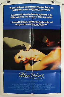 Blue Velvet -David Lynch / Dennis Hopper- Original Australian 1Sht Movie Poster