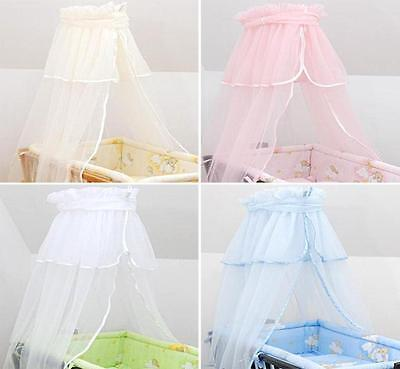 Crown Canopy / Drape / Mosquito Net To Fit Crib / Cradle / Moses Basket