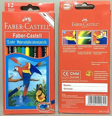 FABER CASTELL Set of 12 color classic coloring water soluble assorted pencil