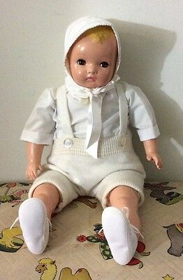 "VINTAGE 22"" A. HORSMAN ENCHANTING EYES BOY DOLL"