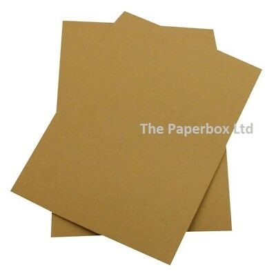 A4 Recycled Brown Kraft Fleck Card, 270gsm - double sided