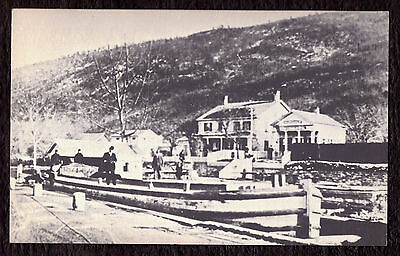 'D & H Canal Office, Ellenville' real photo reprint PC published mid-1900s