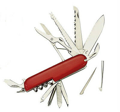 3202 Rothco Red Swiss Army Style 11 Function Pocket Knife
