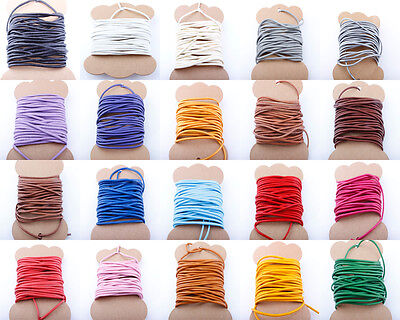 100% Real Round Leather Cord 1,1.5,2,3,4,5 MM String Cord Thong Jewellery