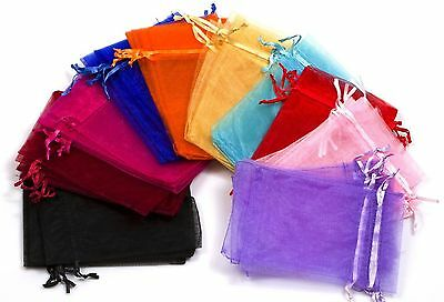 """5x7"""" 50 Pcs Organza Drawstring Pouches Jewelry Party Wedding Favor Gift Bags"""