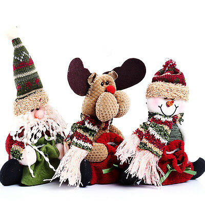 Christmas Cute Funny Stocking Decorating Reindeer Snowman Santa Claus Candy Bag