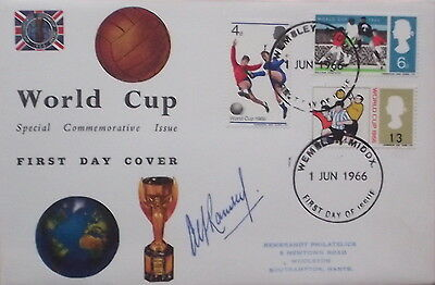 Sir Alf Ramsey signed England 1966 World Cup FDC cover Wembley Frank Autograph