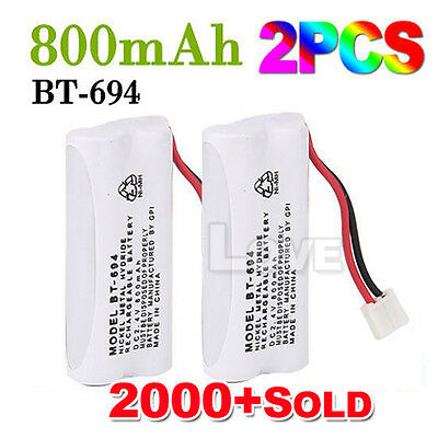 OZ J Cordless Phone Battery 2x For Uniden BT-694 BT-694S 2.4V 800MAH Ni-MH