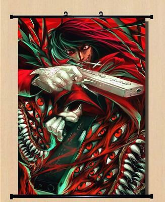 Home Decor Japanese Anime Wall poster Scroll Hellsing Alucard Cosplay 07