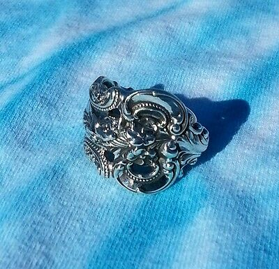 Wallace Grande Baroque Sterling Spoon Ring