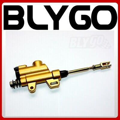 SILVER 8mm Banjo Back Rear Hydraulic Brake Master Cylinder PIT PRO Dirt Bike ATV