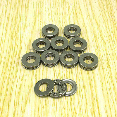 10pcs Axial Thrust Ball Bearings 8mm x 16mm x 5mm F8-16M Stainless Steel NEW