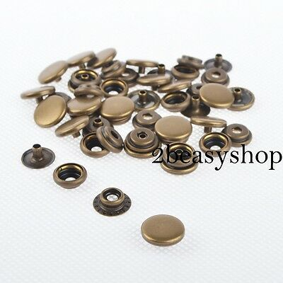 12.5/15/17mm Brass Snap Fasteners Popper Press Studs Rivet Sewing Leather craft