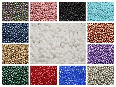 CHOOSE COLOR! 100pcs 4mm Czech Glass Round Pressed Beads