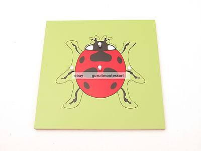 NEW Montessori Zoology Material - Wooden Ladybug Puzzle
