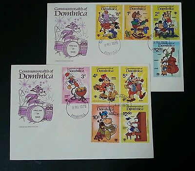 Dominica Walt Disney Musical Instruments 1979 Cartoon Mickey (stamp FDC 2's)
