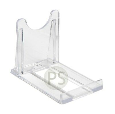 "Small Display Stands x 10 :  Clear Plastic 5cm, 2"" : Plate, Bowl etc"