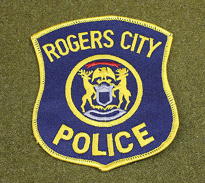 30078) Patch Rogers City Michigan Police Department Sheriff Law Enforcement