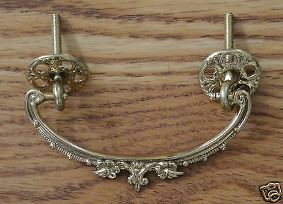 Victorian Drawer Pull Brass Ornate
