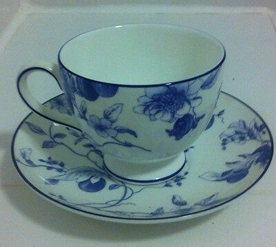 Rare Wedgwood Blue Plum Leigh Teacup and Saucer - New Made in England