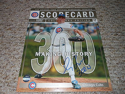 Greg Maddux Ip Auto Signed 300 Win Scorecard -  300 W - Braves Cubs - Lojo Holo