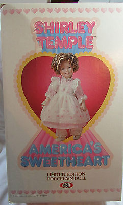 1982 Ideal Shirley Temple Doll with Gary Saderup 1990 Lithograph Included